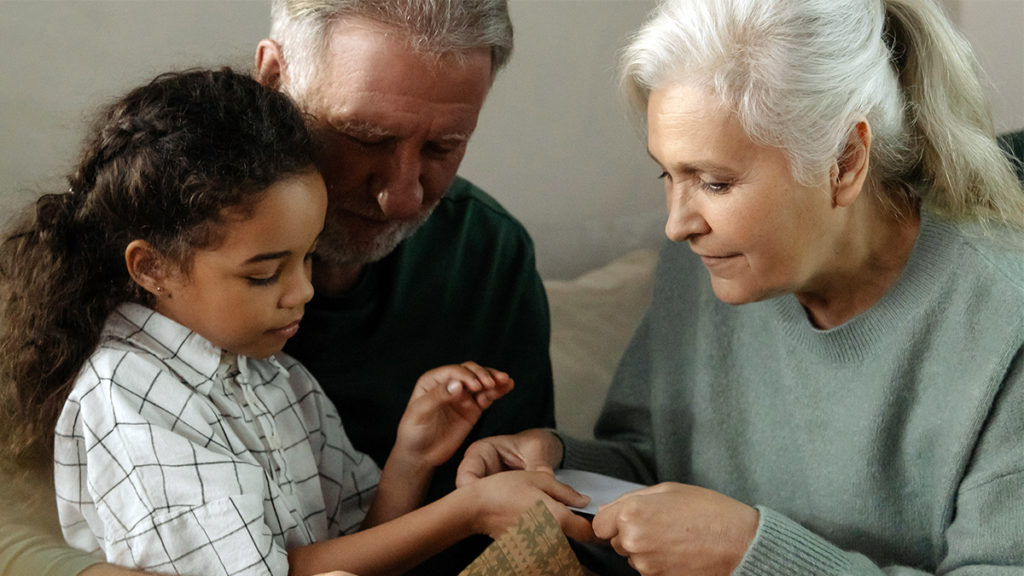 Photo of grandparents with grandson