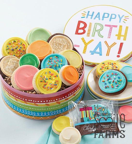 Photo of birthday gift tin