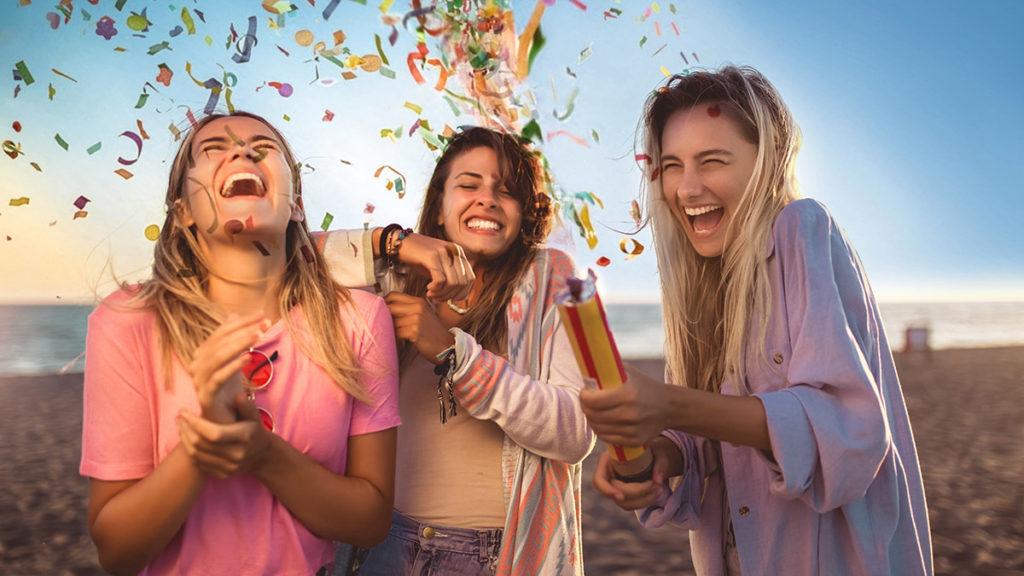 Photo of young people having fun