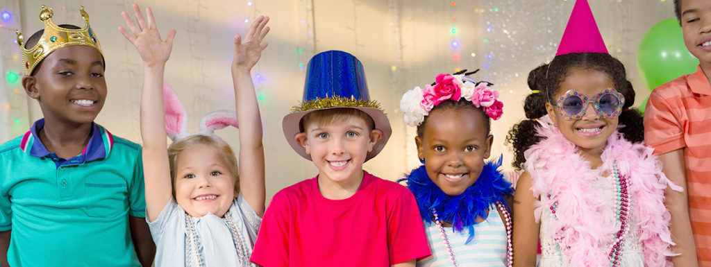 Photo of kids at a birthday party