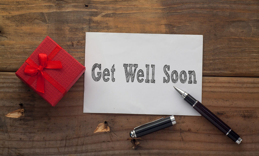Photo of get well soon card