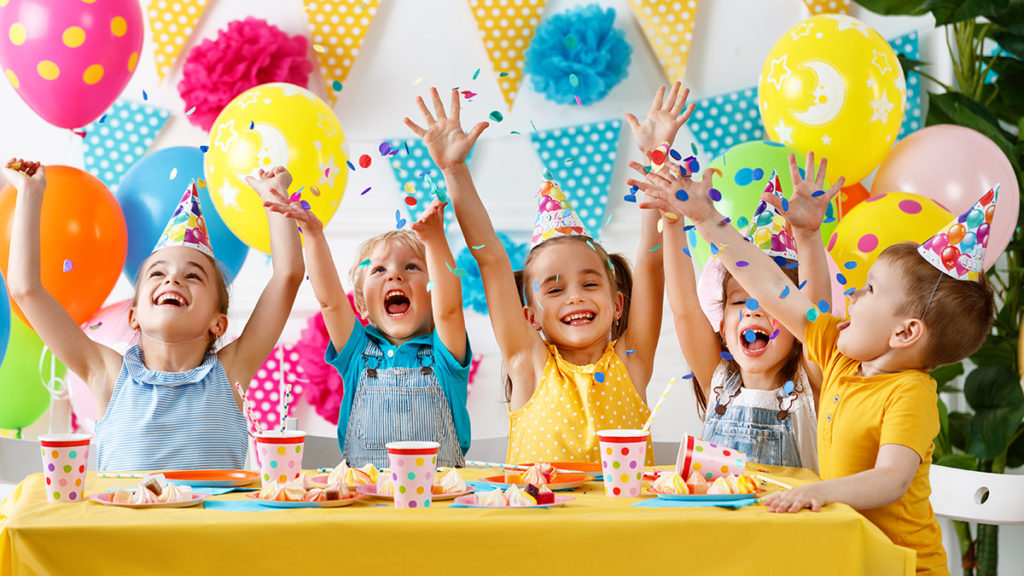 Photo of kids at craft birthday party