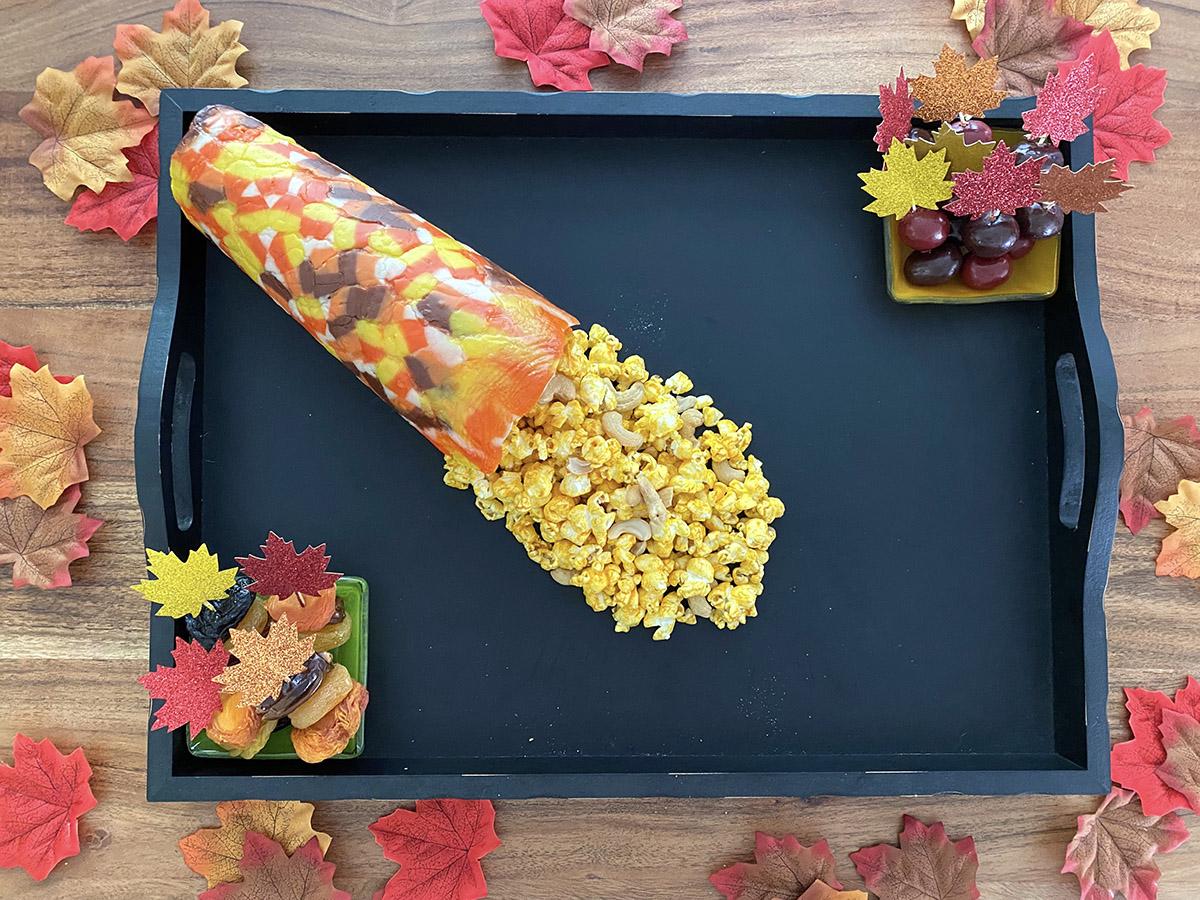 Photo of fall dessert board in progress