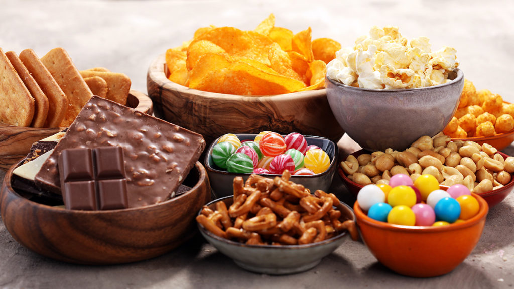 Photo of sweet and salty snacks