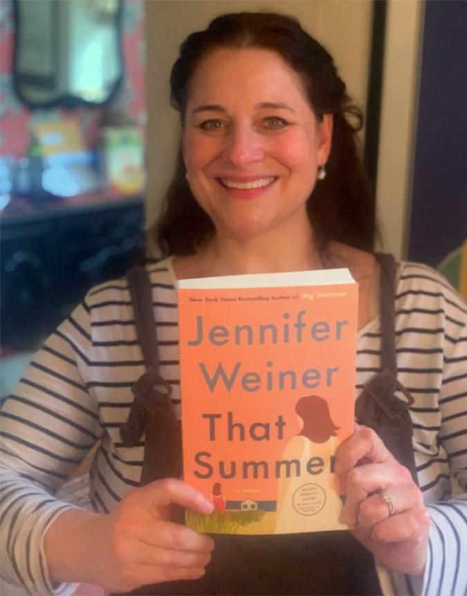 Photo of Jennifer Weiner with her book