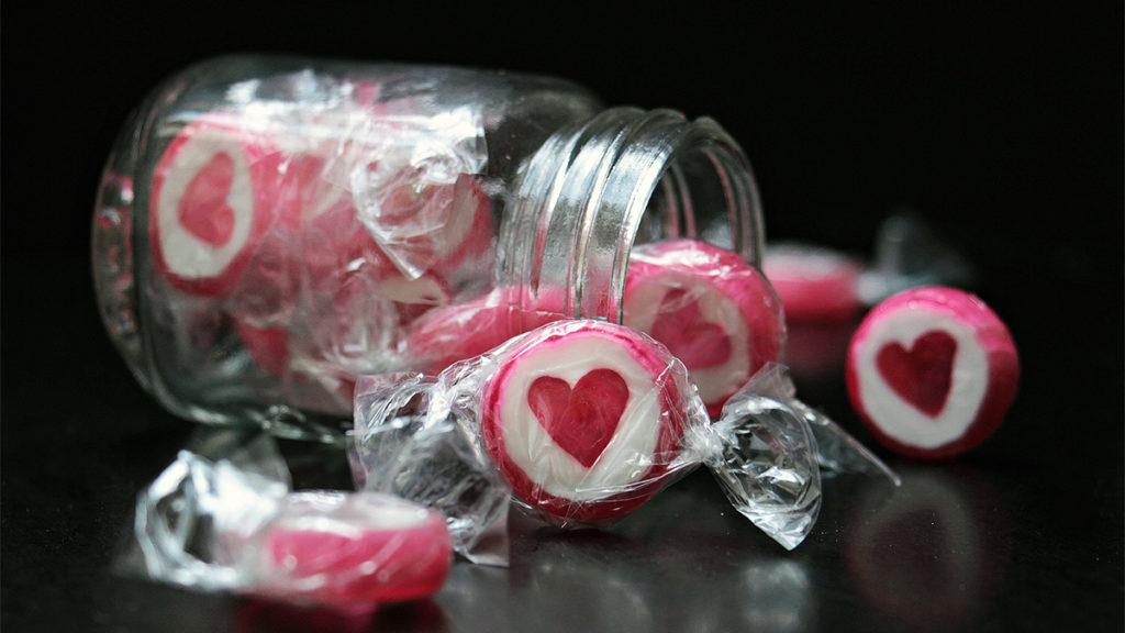 Photo of heart-shaped candy
