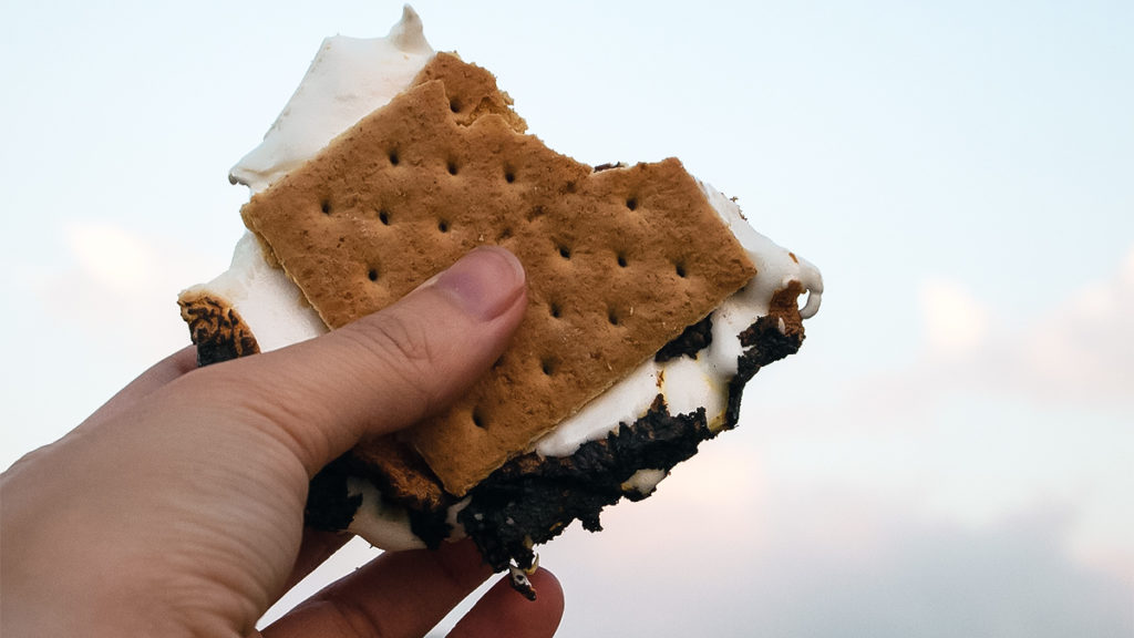 Photo of a s'more