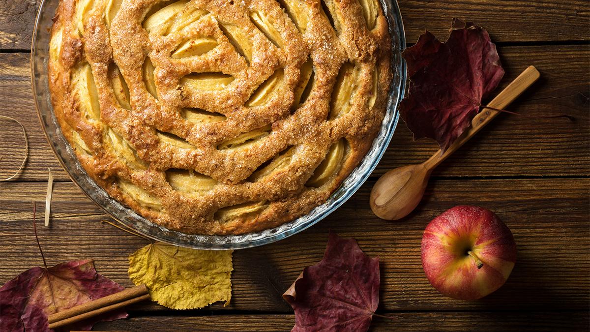 Photo of an apple pie