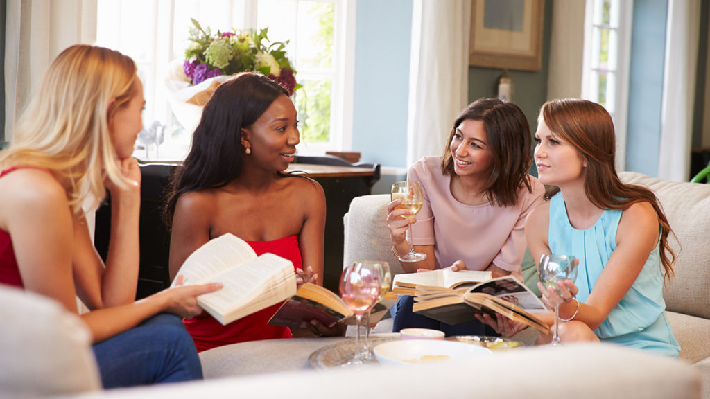 Photo of women at a book club meeting