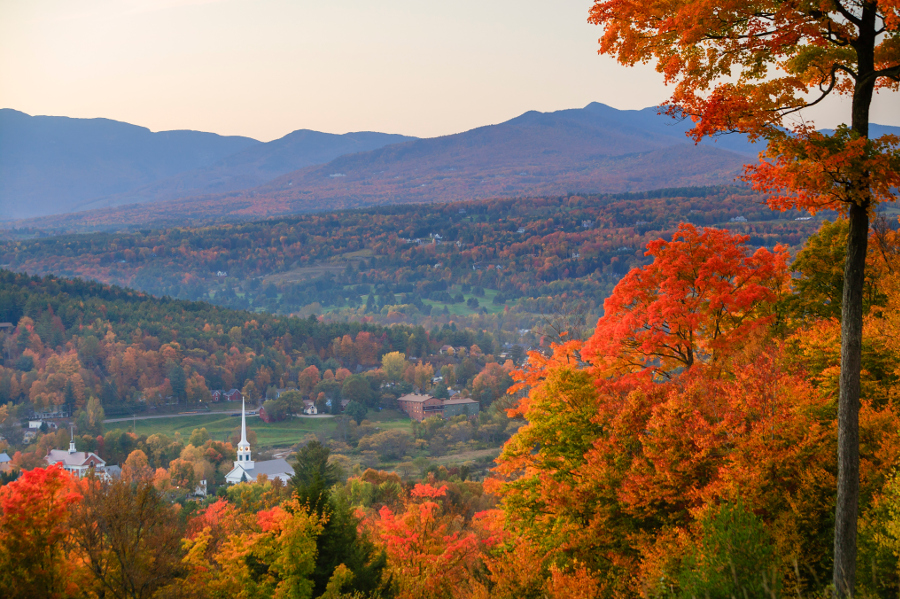 Photo of the fall foliage in Vermont