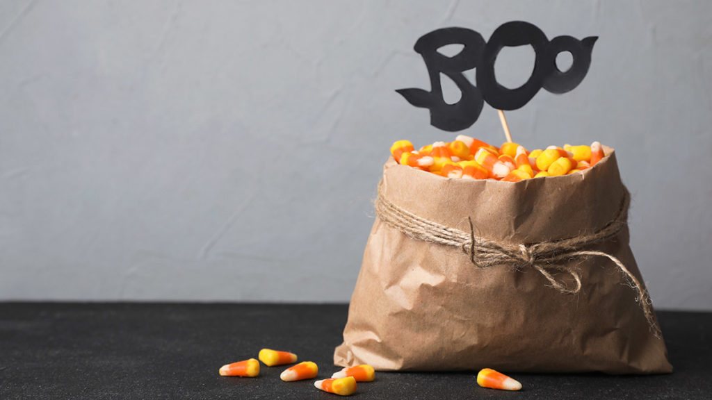 Photo of boo bag with candy corns