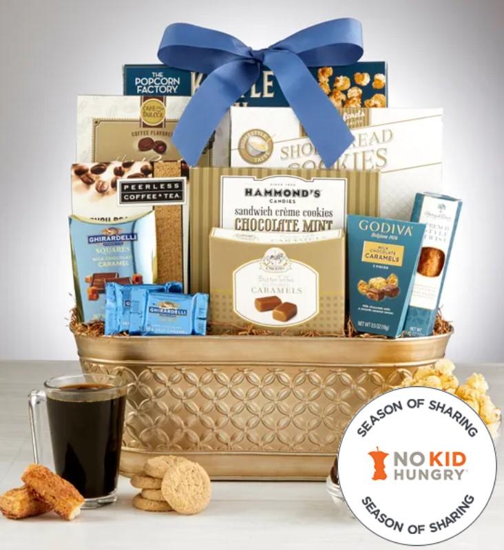 Photo of gourmet food gift basket