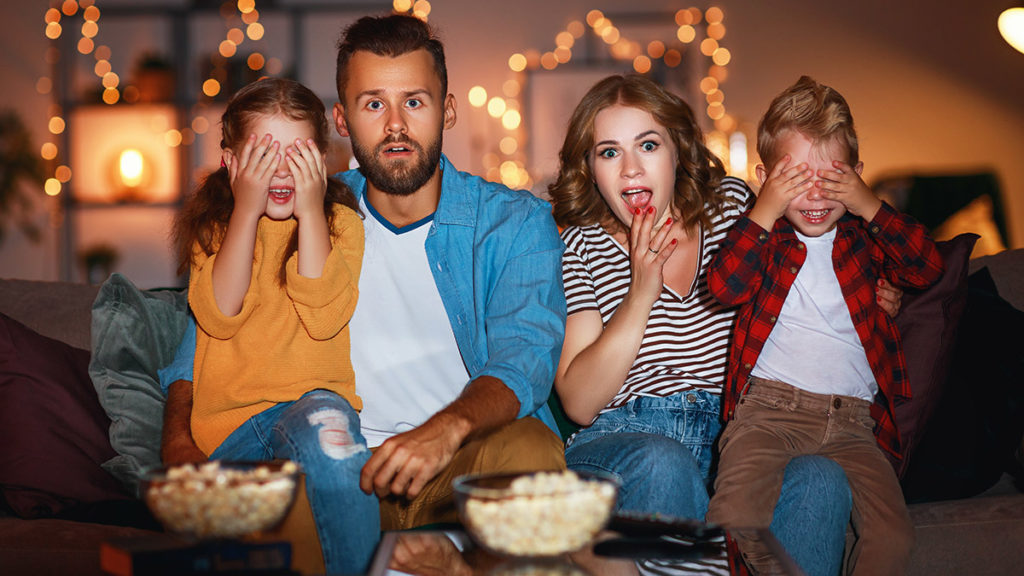 Photo of family movie night